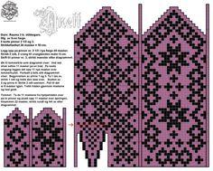 Bilderesultater for mønsterstrikk Knitted Mittens Pattern, Fair Isle Knitting Patterns, Knit Mittens, Knitting Charts, Knitted Gloves, Knitting Socks, Knitting Stitches, Norwegian Knitting, Knit Art