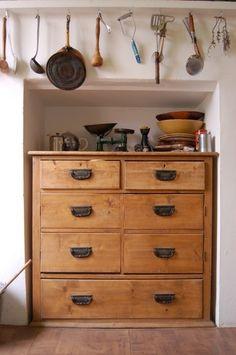 unusual kitchen storage.