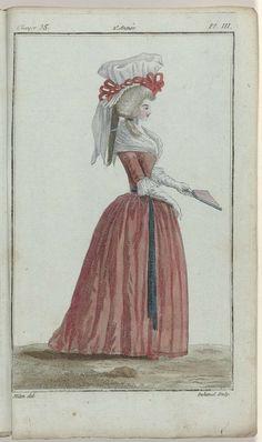 Magasin des Modes Nouvelles Françaises et Anglaises, 30 octobre 1787, 35e cahier, 2e année, Pl.  3, A.B. Duhamel, Buisson, 1787