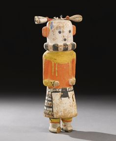 Hopi Polychrome Wood Kachina, depicting Hakto | Lot | Sotheby's