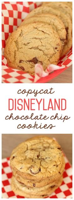 These Copycat Disneyland Chocolate Chip Cookies from FamilyFoodFun.com taste just like the real thing.  They are seriously the best cookies I have ever made!