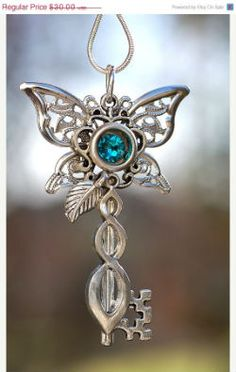 I used to have this necklace of a key and butterfly charm that I love wearing. I lost it ages ago and this kind of reminds me of it.