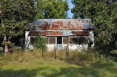 Abandoned Vernacular Farmhouse Architecture Screened In Front Porch Addition Siding Picture Image Photograph Copyright © Brian Brown Vanishi...