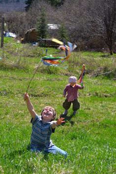 maypole wands, floaty bits of rainbow in your hand
