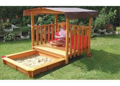 The Exaco Playhouse Rectangular Sandbox is the perfect place to spend all your summers in. Engineered to perfection, this sandbox is made from pine wood that makes it strong and long-lasting. This sandbox effortlessly blends with most garden settings. The non-toxic properties of this sandbox make it safe for you and your kids. This rectangular sandbox features a plastic canopy overhead that provides you with shade from the hot sun while playing. The sand compartment can easily be pushed in…