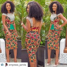 #Repost @empress_jamila with @repostapp. ・・・ Hello Lovelies this week it's all about prints on the blog  Come check out my OOTD  www.stylebytrey.blogspot.com  Dress by : @pistisgh Hair by : @dernak