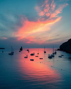 Cotton candy reflections in Ibiza, only a two-and-a-half-hour flight from London and one of the best places to rave and rejuvenate in the world. The settlers of Ibiza, pronounced 'evissa,' dedicate… Rome, Ibiza Beach, Destination Voyage, Power Boats, Destinations, Sardinia, View Photos, The Good Place, Sailing