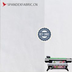 White Spandex Sublimation Printing Fabric is a fabric made from polyester spandex, can be used in sublimation print or chair cover.