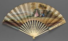 Fan, English, about 1800 - in the Museum of Fine Arts Boston costume collection