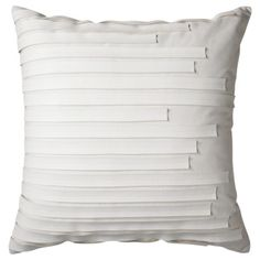 Nate Berkus Savile Decorative Pillow - White; Would look so sweet with my new bed spread.