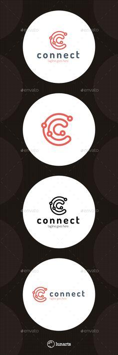 Connect Line Logo - Letter C                                                                                                                                                                                 Más