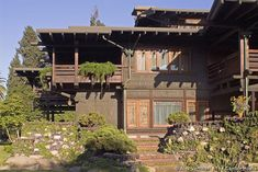 David B. Gamble House, 1907-1908; Pasadena, California; Charles Sumner Greene and Henry Mather Greene. Arts and Crafts.