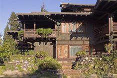 David B. Gamble House, 1907-1908; Pasadena, California; Charles Sumner Greene and Henry Mather Greene. Arts and Crafts.