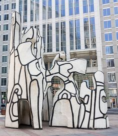 Monument with Standing Beast, 1984 (Jean Dubuffet), 100 W. Chicago Sculpture, Jean Dubuffet, Moving To Paris, Beast, Contemporary Art, World, Artist, Painting, Artists