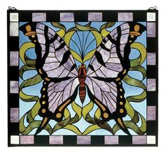 Features:  -Mounting bracket and jack chain included.  -Butterfly collection.  -Amethyst wings patterned with ebony and amber bring flight to this delightful butterfly.  -Soars over a ribbon of garden