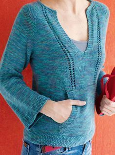 Casual Knitted T-Shirt for Mom and Daughter (Free Knitting Pattern)