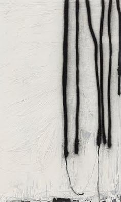 2013 - Terri Brooks Catalogue Lines on White, 2013. Oil, enamel and pencil on canvas, 137 x 82 cm. Private collection.