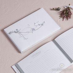Love Bird in Classic White Guest Book