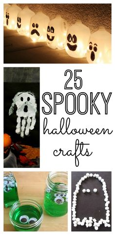 25 Spooky Halloween Crafts for kids. Your preschoolers, toddlers and older kids will love these Halloween crafts. So fun!