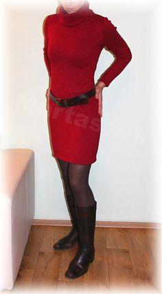 Šaty-krásně hřejivý úplet vz.151(více barev)