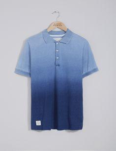 Mens Polo Shirts | Dip Dye Indigo Polo Shirt | Native Youth