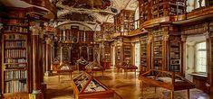 La bibliothèque de l'abbaye de Saint-Gall, Suisse