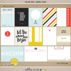 """You are Here (Journal Cards) 