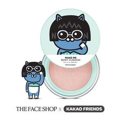 THE FACE SHOP Kakao Friends Make Me Body Cushion #Neo - Strawberrycoco