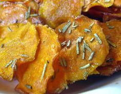// rosemary sweet potato chips