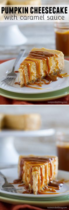 Pumpkin Cheesecake with Caramel Sauce: A creamy pumpkin cheesecake is topped with a caramel sauce for this decadent fall dessert.