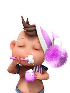 Карапуз чистит зубы - анимация на телефон №1391092