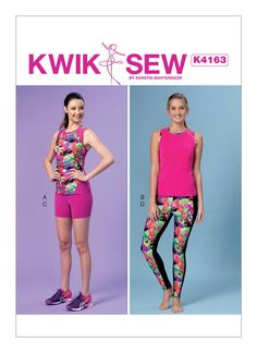 Kwik Sew 4181 Sewing Pattern Shorts and Top Misses size XS-XL New Uncut