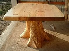 How to Make a Nice Table from a Tree Log