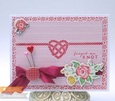 Stamps (WMS), DP/Embellishments - Bo Peep collection (Crate Paper), Ink - Regal Rose (SU!), Stick Pins/Seam Binding (my stash), Cardstock - Select White (PTI)