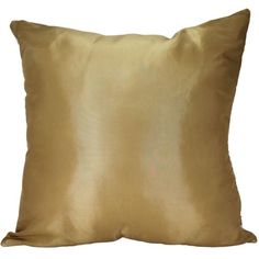 "That's Perfect® Solid Color 18""x18"" Decorative Silk Throw Pillow Cover-Gold That's Perfect!"