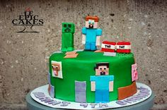 Single layer Minecraft cake