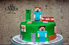 Single layer Minecraft cake