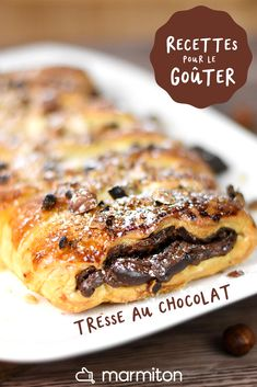 Chocolate puff pastry braid for children's snack - Dessert Recipes Homemade Cake Recipes, Snack Recipes, Dessert Recipes, Cooking Recipes, Snacks, Healthy Recipes, Dessert Party, Party Desserts, Easy Desserts For Kids
