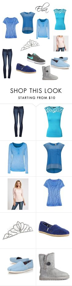 """""""Casual Elsa"""" by music-panda2 ❤ liked on Polyvore featuring DL1961 Premium Denim, Jane Norman, True Religion, Vero Moda, GUESS, American Eagle Outfitters, TOMS, UGG Australia, NIKE and frozen"""