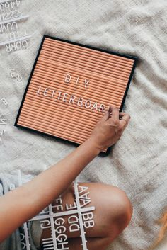 DIY Letterboard — Treasures & Travels