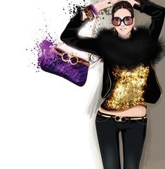 Trendy Fashion Illustration