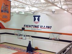 Newly remodeled Basketball practice center for Illini.  Notice the new emblem.  GO ILLINI!