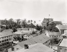 "Shorpy Historical Photo Archive :: Circa 1900. ""Key West, Florida. View from hotel."" Detroit Publishing Company dry-plate glass negative."