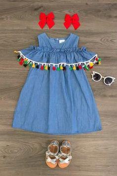 Colorful Tassel Off Shoulder Dress - #colorful #dress #shoulder #Tassel