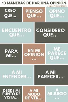 Aquí tienes 13 maneras diferentes de dar una opinión en español, diversas formas de expresar lo que opinas o lo que piensas.