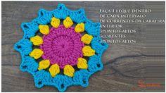 Cómo tejer tapete, flor o mandala crochet paso a paso en imágenes. Crochet Diy, Crochet Motif, Crochet Flowers, Crochet Hats, Crochet Curtains, Crochet Videos, Haberdashery, Blanket, Crochet Mandala