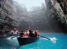 Melissani cave can be found on the east coast of the island of Kefalonia in Greece. It is located about 2 km from the town of Sami and 10 km from the town of Argostoli.