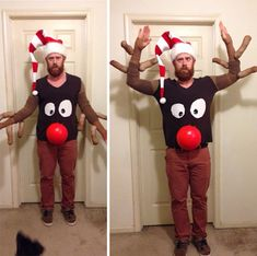 Ugliest Christmas Sweater Ever, Diy Ugly Christmas Sweater, Diy Christmas Gifts, Christmas Humor, Christmas Outfits, Diy Christmas Costumes, Christmas Ideas, Christmas Music, Christmas Shirts