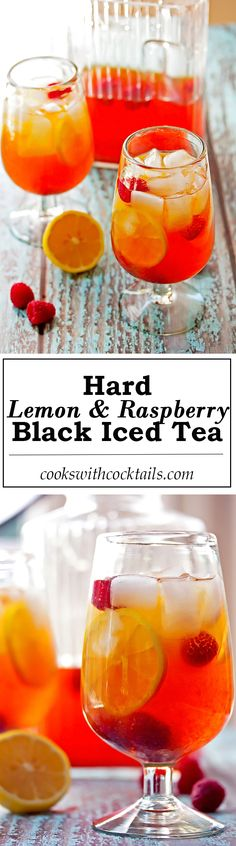Fresh squeezed lemonade, sweetened with a touch of honey, mixed with strong steeped black tea and raspberry vodka.   #hardicedtea #lemonade #cocktail