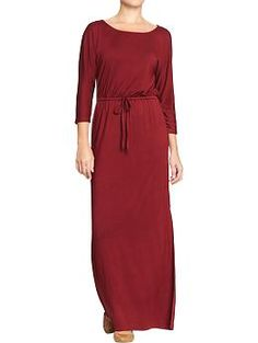 Women's 3/4-Sleeve Maxi Dresses   Old Navy. Oooohhhhhh how lovely! Perfect for those fall Aggie game watching events!